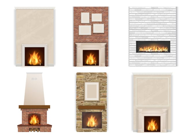What Surfaces Can Go Around Custom Fireplaces in Your Home?